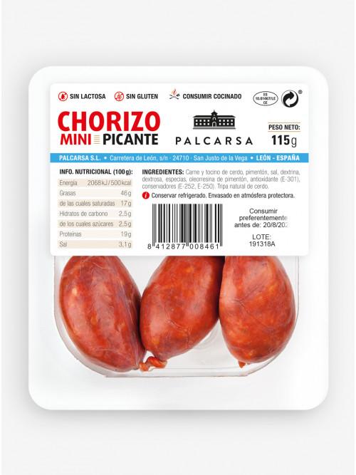 Chorizo mini picante 115 g.